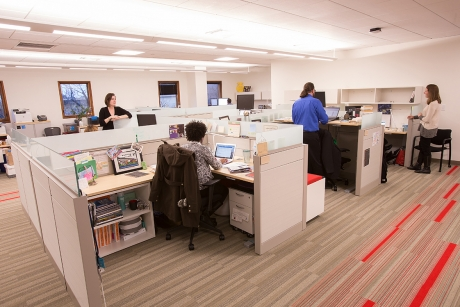 Engaged Cornell Hub staff desks